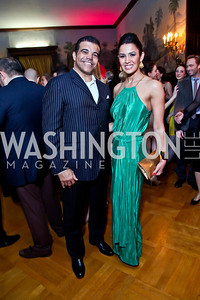 "Jerry Pierce and Kenya Felix Pierce. Photo by Tony Powell. Washington Ballet ""Noche de Pasion."" Brazilian Ambassador's residence. February 9, 2013"