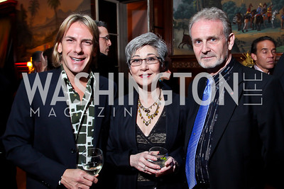 "Marc Cipullo, Elaine Kudo, Jim Walsh. Photo by Tony Powell. Washington Ballet ""Noche de Pasion."" Brazilian Ambassador's residence. February 9, 2013"