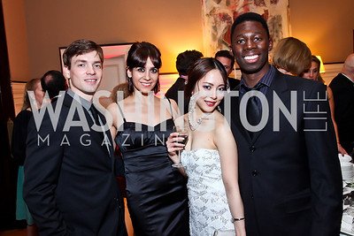 "TWB dancers Jonathan Jordan and Sona Kharatian, Ayano Kimura, Brooklyn Mack. Photo by Tony Powell. Washington Ballet ""Noche de Pasion."" Brazilian Ambassador's residence. February 9, 2013"