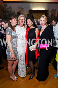 "Marisa Robinson, Andrea Cecchi, Eunice Mazloom, Sally Sagarese. Photo by Tony Powell. Washington Ballet ""Noche de Pasion."" Brazilian Ambassador's residence. February 9, 2013"