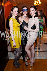 "TWB dancers Carly Wheaton, Morgann Rose, Laura Chachich. Photo by Tony Powell. Washington Ballet ""Noche de Pasion."" Brazilian Ambassador's residence. February 9, 2013"