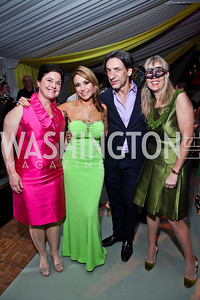 "Judy Bishop, Pilar O'Leary, Septime Webre, Isabel Ernst. Photo by Tony Powell. Washington Ballet ""Noche de Pasion."" Brazilian Ambassador's residence. February 9, 2013"
