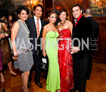 "Shamim and Said Jawad, Pilar O'Leary, Natalia and Antonio Monteiro. Photo by Tony Powell. Washington Ballet ""Noche de Pasion."" Brazilian Ambassador's residence. February 9, 2013"