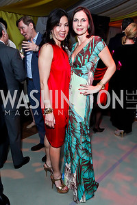 "Mai Abdo, Ludmila Cafritz. Photo by Tony Powell. Washington Ballet ""Noche de Pasion."" Brazilian Ambassador's residence. February 9, 2013"