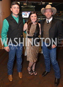 Robert Brown, Meghan Blackburn, Chuck Morrison, Washington International Horse Show, at the Verizon Center.  October 26, 2013.  Photo by Ben Droz