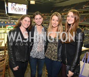 Gabrielle Bansano, Sydney Shulman, Charlotte Jacobs, Catherine Tyree, Washington International Horse Show, at the Verizon Center.  October 26, 2013.  Photo by Ben Droz