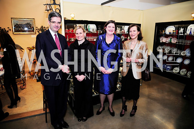 French Ambassador.Francois Delattre,Anne Elmore,Mason Bavin, Menehould de Bazalaire,January 10,2013, Washington Winter Show,Kyle Samperton