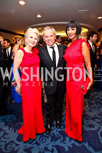 Jane Harman, Wolfgang and Cecilia Puck. Photo by Tony Powell. WHC Pre Parties. Hilton Hotel. April 27, 2013