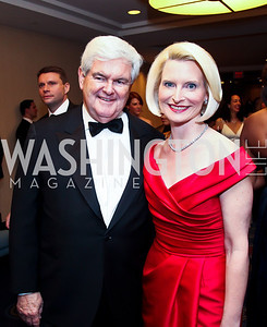 Newt and Callista Gingrich. Photo by Tony Powell. WHC Pre Parties. Hilton Hotel. April 27, 2013