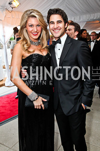 Miss America 2013 Mallory Hagan, Actor-singer Darren Criss. Photo by Tony Powell. WHC Pre Parties. Hilton Hotel. April 27, 2013