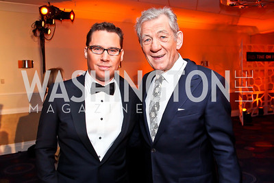 Director Brian Singer, Sir Ian McKellan. Photo by Tony Powell. WHC Pre Parties. Hilton Hotel. April 27, 2013