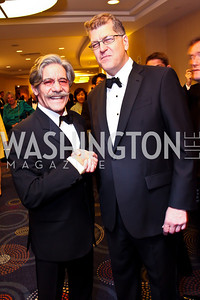 Geraldo Rivera, The Atlantic's Steve Clemons. Photo by Tony Powell. WHC Pre Parties. Hilton Hotel. April 27, 2013