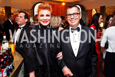 Georgette Mosbacher, Alexander Mirtchev. Photo by Tony Powell. WHC Pre Parties. Hilton Hotel. April 27, 2013