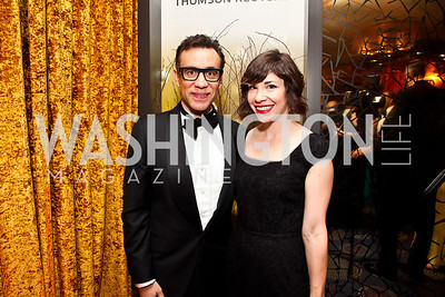 Saturday Night Live's Fred Armisen, Carrie Brownstein. Photo by Tony Powell. WHC Pre Parties. Hilton Hotel. April 27, 2013
