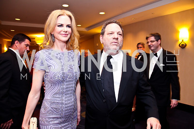 Actress Nicole Kidman, Harvey Weinstein. Photo by Tony Powell. WHC Pre Parties. Hilton Hotel. April 27, 2013