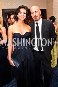 Homeland's Morena Baccarin, Austin Chick. Photo by Tony Powell. WHC Pre Parties. Hilton Hotel. April 27, 2013