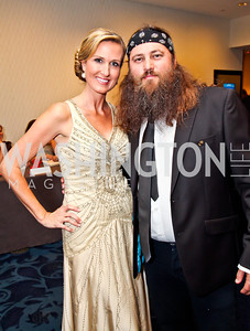 Duck Dynasty couple Korie and Willie Robertson. Photo by Tony Powell. WHC Pre Parties. Hilton Hotel. April 27, 2013