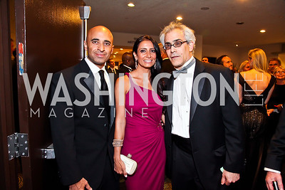 UAE Amb. Yousef Al Otaiba and Abeer Shoukry. David Corn. Photo by Tony Powell. WHC Pre Parties. Hilton Hotel. April 27, 2013