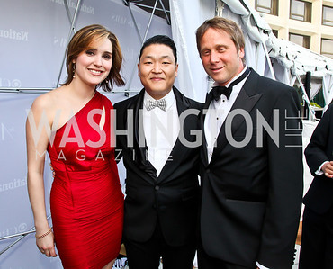 CBS News Correspondent Margaret Brennan, Psy, Google's Matthew Stepka. Photo by Tony Powell. WHC Pre Parties. Hilton Hotel. April 27, 2013