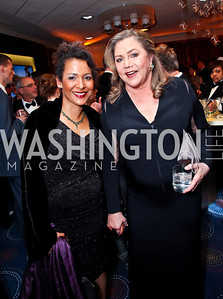 Journalist Mariane Pearl, Actress Kathleen Turner. Photo by Tony Powell. WHC Pre Parties. Hilton Hotel. April 27, 2013