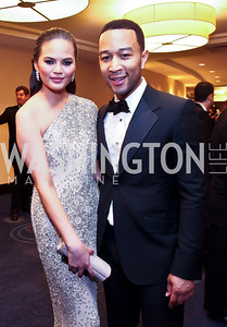 Chrissy Teigen, John Legend. Photo by Tony Powell. WHC Pre Parties. Hilton Hotel. April 27, 2013