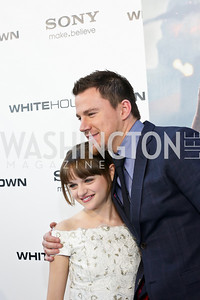 "Joey King, Channing Tatum. Photo by Tony Powell. ""White House Down"" red carpet. AMC Loews Georgetown. June 22, 2013"