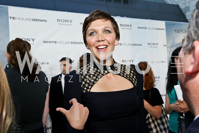 "Maggie Gyllenhaal. Photo by Tony Powell. ""White House Down"" red carpet. AMC Loews Georgetown. June 22, 2013"