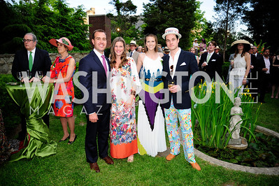 Mike Gula,Ashley Gula,Brittany Prime,Will Rabbe,,May 15,2013,Woodrow Wilson House 25th Perennial Garden Party,Kyle Samperton