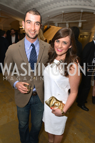 Daniel Kramer, Lyndsi Armenio, Washington Life Magazine hosts the 8th Annual Young and the Guest List party at the Carnegie Library.  Photo by Ben Droz.