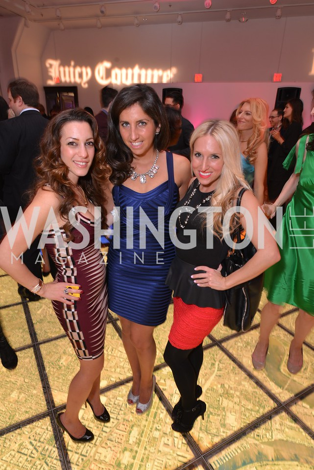 Anastasia Dellaccio, Jamie Drucker, Michelle Goodliff, Washington Life Magazine hosts the 8th Annual Young and the Guest List party at the Carnegie Library.  Photo by Ben Droz.