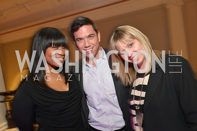 Assistant to Andre Wells, Neil Grace, Nikki Schwab, Washington Life Magazine hosts the 8th Annual Young and the Guest List party at the Carnegie Library.  Photo by Ben Droz.