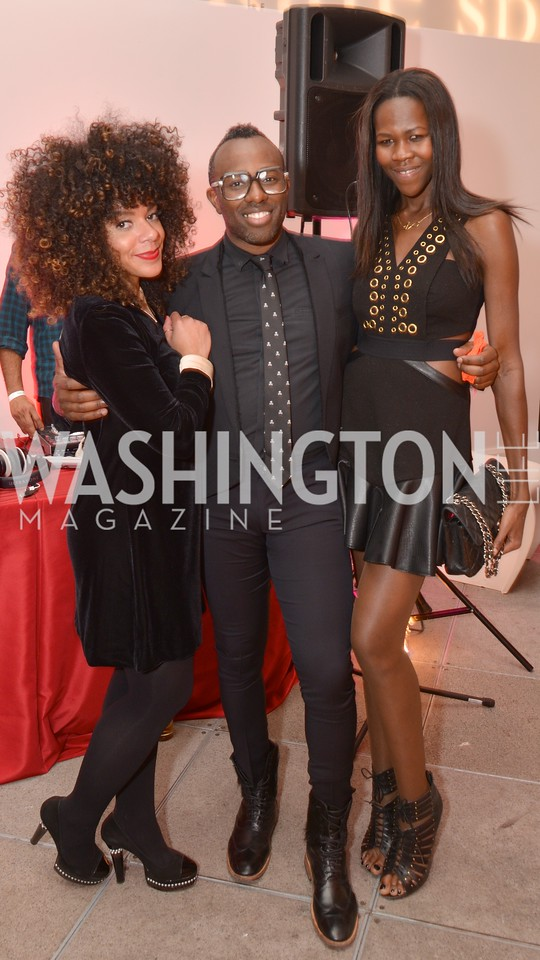 Melissa Burgos, Sheldon Scott,  Jacqueline Akoko, Washington Life Magazine hosts the 8th Annual Young and the Guest List party at the Carnegie Library.  Photo by Ben Droz.