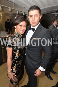 Keochea Alcazar, Julian Alcazar, Washington Life Magazine hosts the 8th Annual Young and the Guest List party at the Carnegie Library.  Photo by Ben Droz.