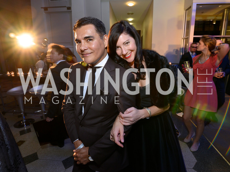 Xavier Equihua, Kristen Guiter, Washington Life Magazine hosts the 8th Annual Young and the Guest List party at the Carnegie Library.  Photo by Ben Droz.