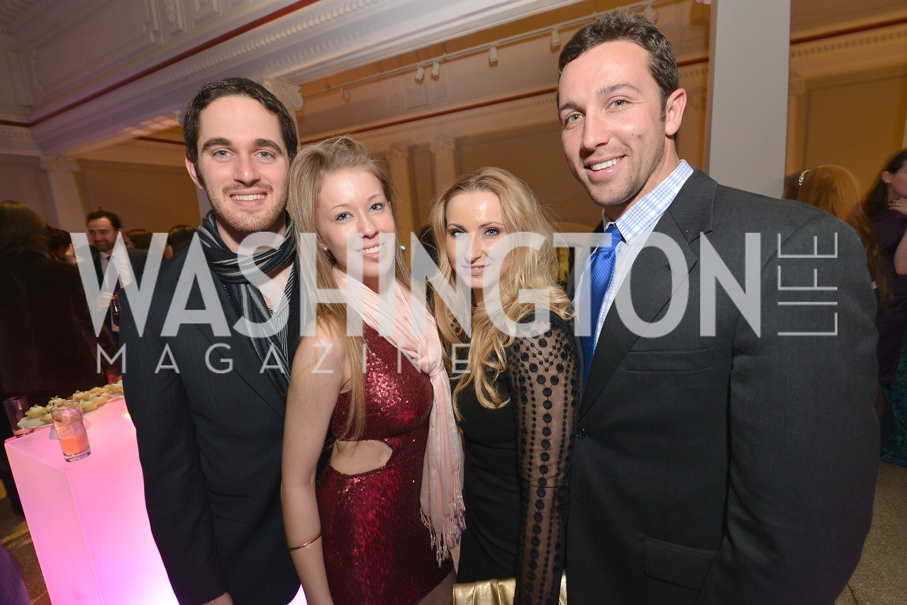 Peter Psaltakis, Peri Gustafson, Stefanie Cocher, Gunther Heyder, Washington Life Magazine hosts the 8th Annual Young and the Guest List party at the Carnegie Library.  Photo by Ben Droz.