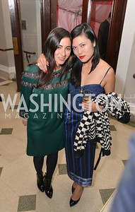 Mary Shademore, Cassidy Karakorn, Washington Life Magazine hosts the 8th Annual Young and the Guest List party at the Carnegie Library.  Photo by Ben Droz.