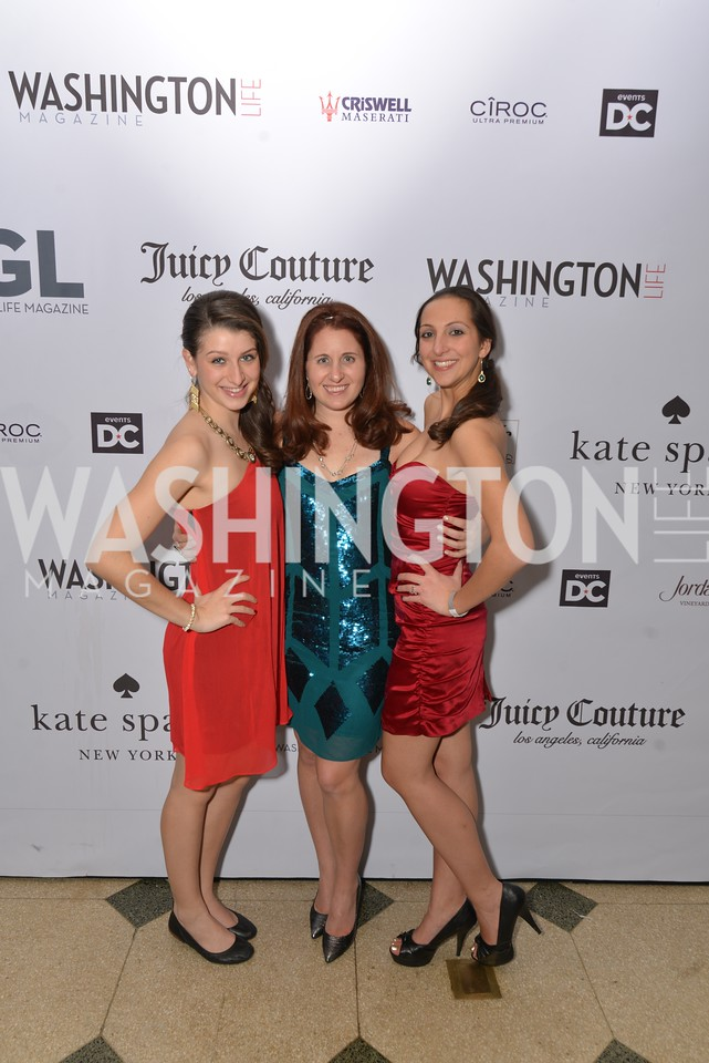 Emily Parker, Laura Wainman, Tashina Harris, Washington Life Magazine hosts the 8th Annual Young and the Guest List party at the Carnegie Library.  Photo by Ben Droz.
