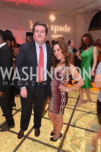John McCarthy, Anastasia Dellaccio, Washington Life Magazine hosts the 8th Annual Young and the Guest List party at the Carnegie Library.  Photo by Ben Droz.