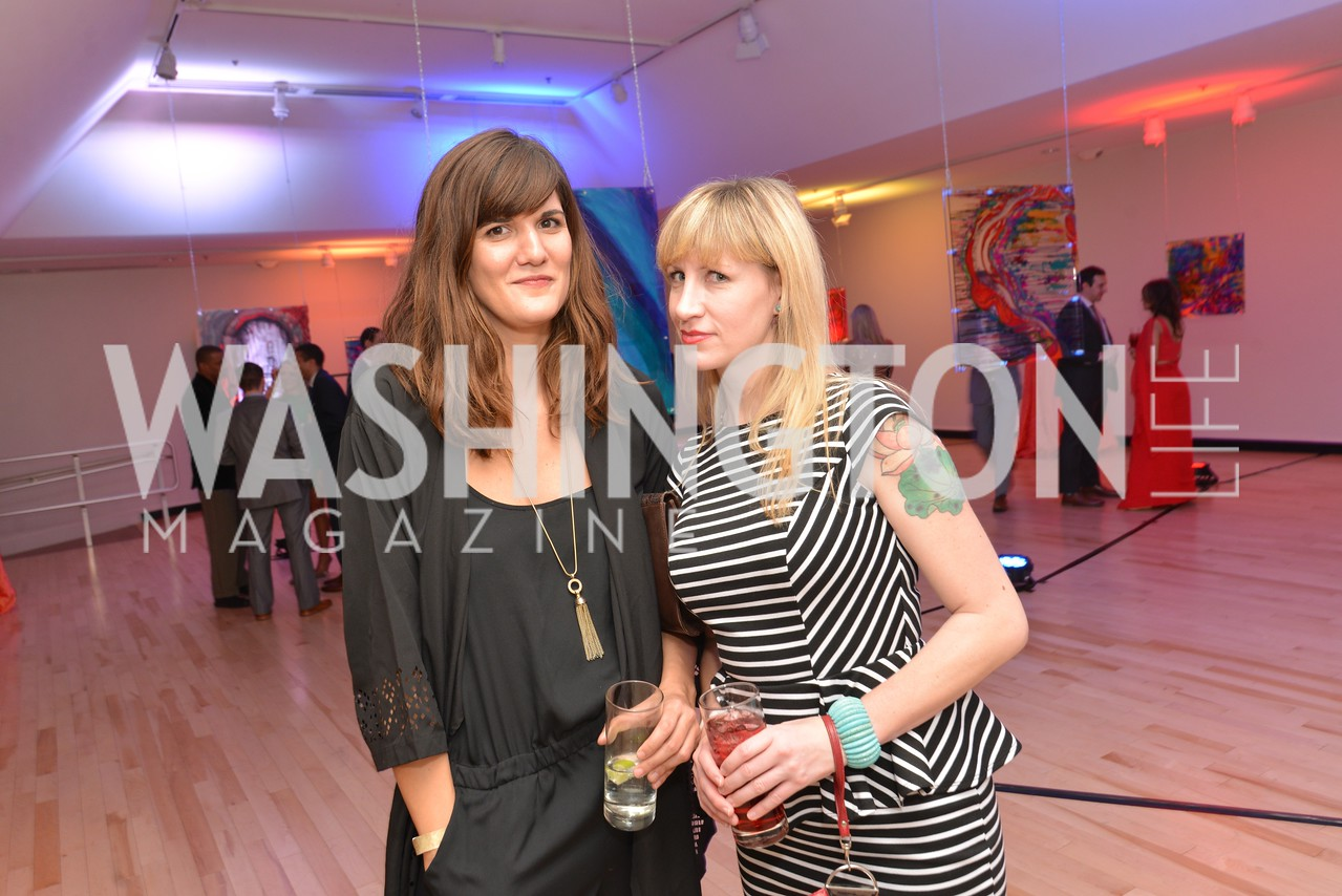 Svetlana Legetic, Jenn Tisdale, Washington Life Magazine hosts the 8th Annual Young and the Guest List party at the Carnegie Library.  Photo by Ben Droz.