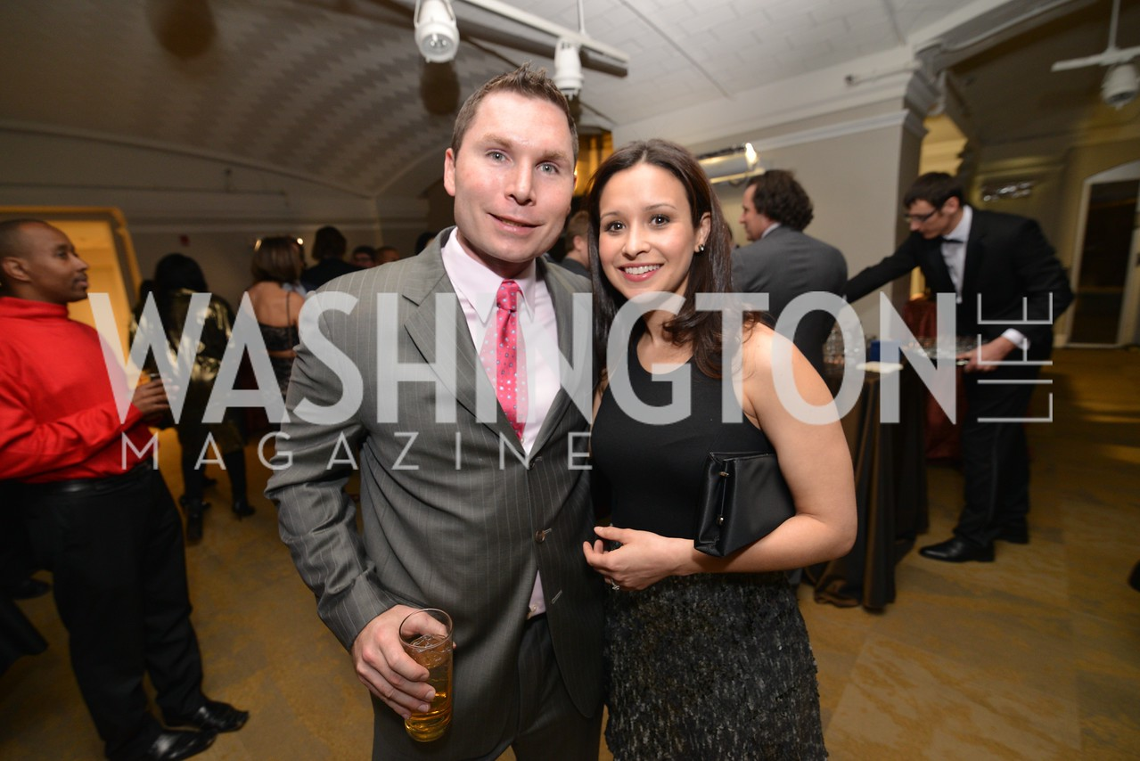 Blake Hall, Suzell Hall, Washington Life Magazine hosts the 8th Annual Young and the Guest List party at the Carnegie Library.  Photo by Ben Droz.