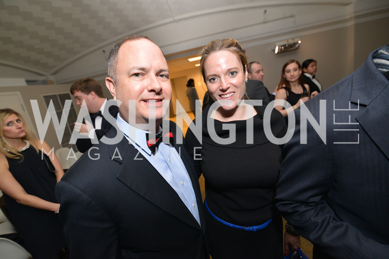 Adam Shapiro, Elizabeth Farell, Washington Life Magazine hosts the 8th Annual Young and the Guest List party at the Carnegie Library.  Photo by Ben Droz.