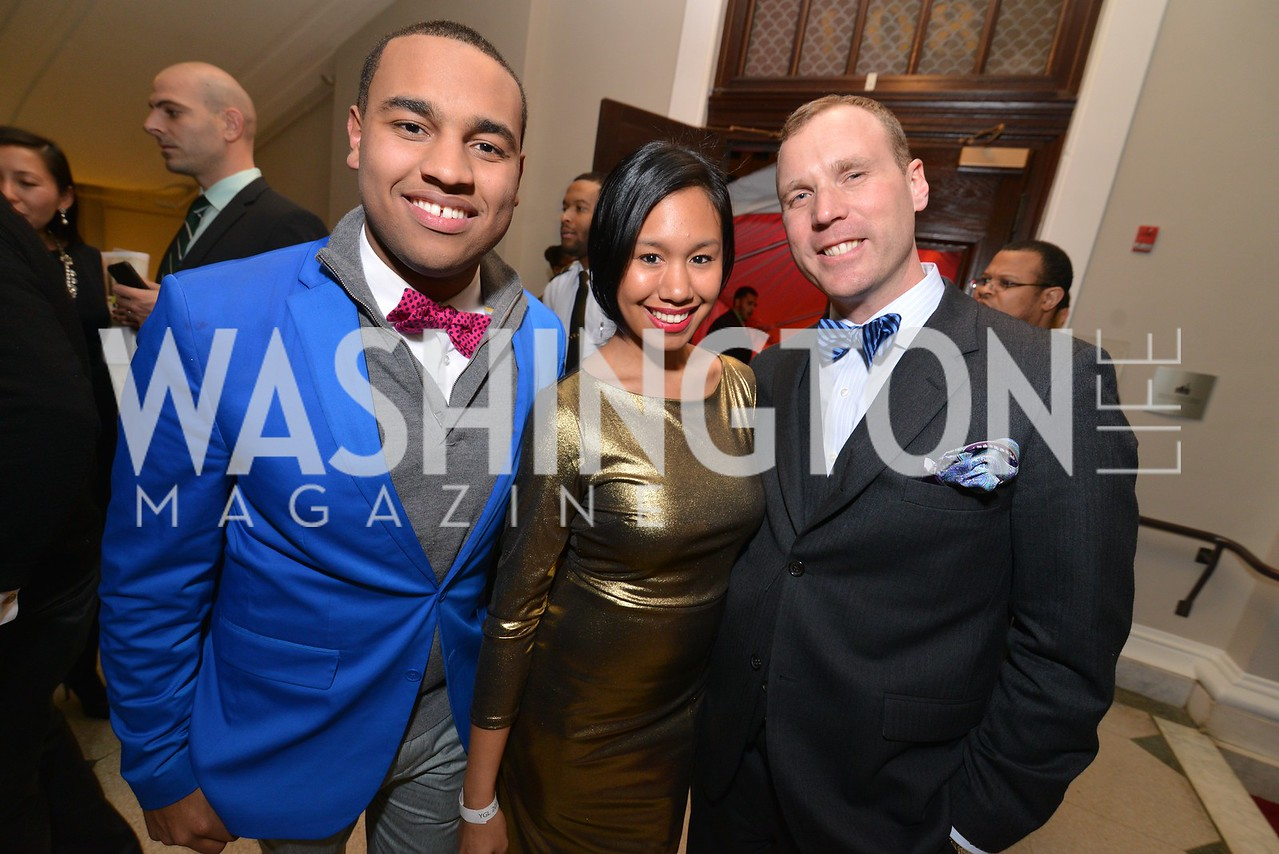 Joel Cas, Arielle Faith, Matthew Christiansen, Washington Life Magazine hosts the 8th Annual Young and the Guest List party at the Carnegie Library.  Photo by Ben Droz.