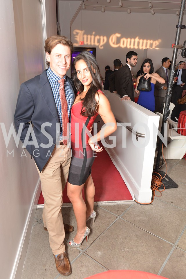 Michael Haft, Pari Bradlee, Washington Life Magazine hosts the 8th Annual Young and the Guest List party at the Carnegie Library.  Photo by Ben Droz.