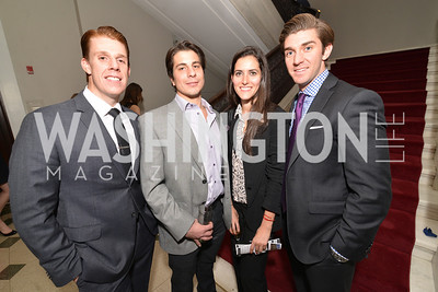 Joseph Scheitino, Spiro Cianniotis, Brittany Sager, Jonathan Otto, Washington Life Magazine hosts the 8th Annual Young and the Guest List party at the Carnegie Library.  Photo by Ben Droz.