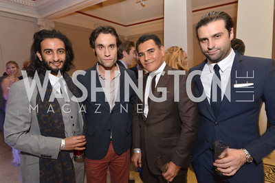 Salman Al-Jalahma, Flavius Mihaies, Xavier Equihua, Viscount Renaud de Viel Castel, Washington Life Magazine hosts the 8th Annual Young and the Guest List party at the Carnegie Library.  Photo by Ben Droz.