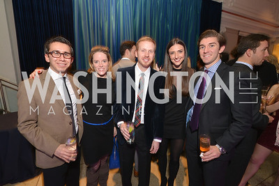 Thomas Sanchez, Liz Farrell, Anthony Shop, Kate Michael, Jonathan Otto, Washington Life Magazine hosts the 8th Annual Young and the Guest List party at the Carnegie Library.  Photo by Ben Droz.