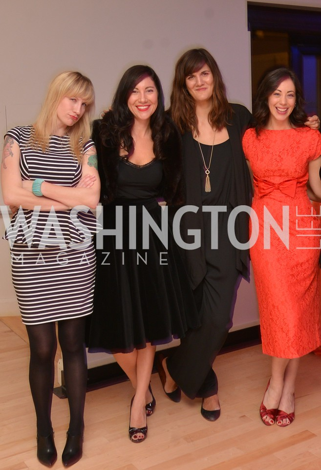 Jenn Tisdale, Kristen Guiter, Svetlana Legetic, Rachel Cothran,Washington Life Magazine hosts the 8th Annual Young and the Guest List party at the Carnegie Library.  Photo by Ben Droz.