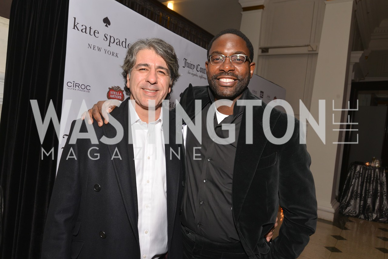 Soroush Shehabi, Andre Wells, Washington Life Magazine hosts the 8th Annual Young and the Guest List party at the Carnegie Library.  Photo by Ben Droz.