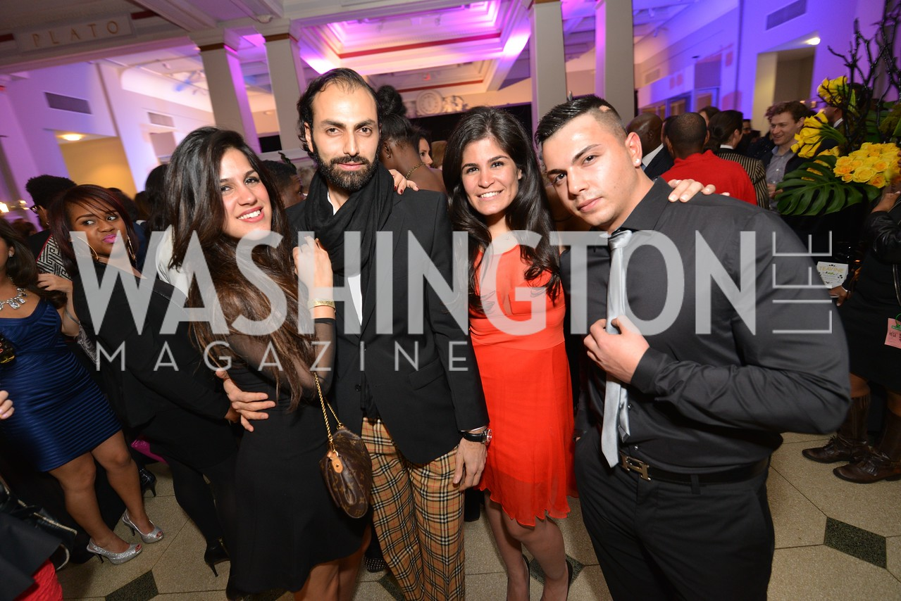 Dannia Hakki Omar Popal, Maha Hakki, Washington Life Magazine hosts the 8th Annual Young and the Guest List party at the Carnegie Library.  Photo by Ben Droz.