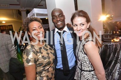 Adra Williams, Joseph Otim, Erikka Kauti, Washington Life Magazine hosts the 8th Annual Young and the Guest List party at the Carnegie Library.  Photo by Ben Droz.